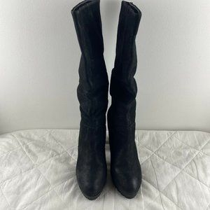 Windsor Smith Womens Black Knee High Round Boots